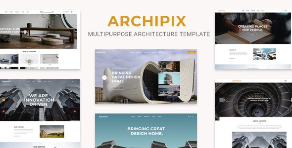 Archipix - Multipurpose Architecture PSD Template      TFx Bonaventure Tony