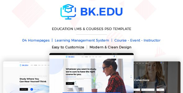 BKEDU - Education LMS & Courses PSD Template      TFx Yoshirou Wardell