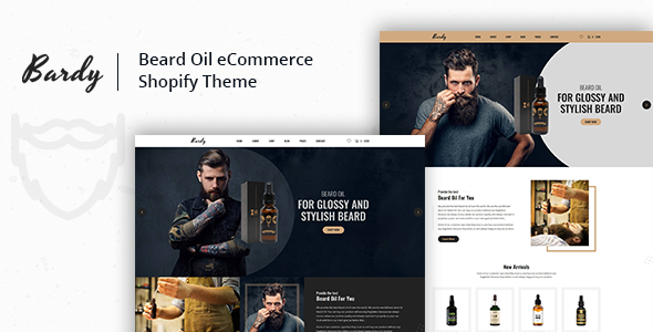 Bardy - Beard Oil Shopify Theme + RTL + Droppshiping            TFx Jeptha Harlow
