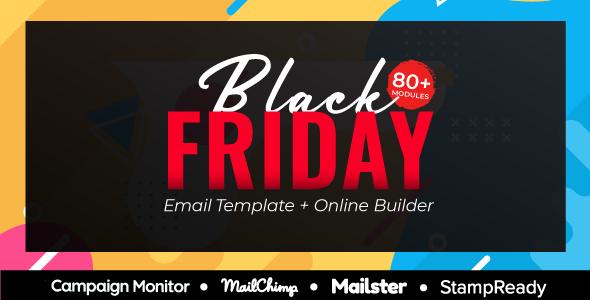 BlackFriday – CyberMonday Multipurpose Responsive Email Template + Online Builder + MailChimp Editor            TFx Jordon Rowan