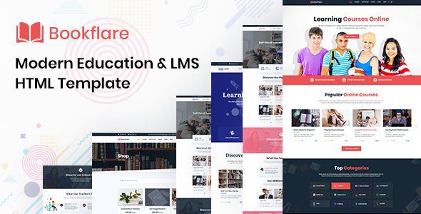 Bookflare - A Modern Education & LMS HTML Template      TFx Brice Benjy