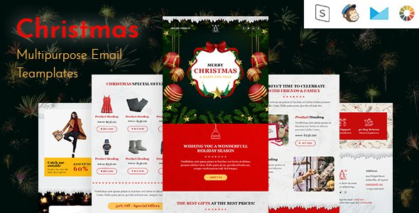 Christmas-Responsive Email Template + Online Builder            TFx Gaylord Ashley