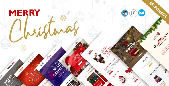 Christmas and New Year Responsive Email Templates            TFx Kameron Braeden