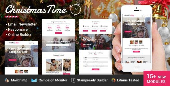 ChristmasTime Multipurpose Email Newsletter            TFx Newton Chris