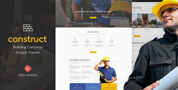 Construct - Construction & Building Drupal Theme            TFx Melvyn Keegan