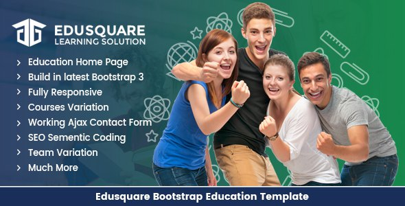Edu Square - Education LMS Bootstrap Template            TFx Jerold Tayler