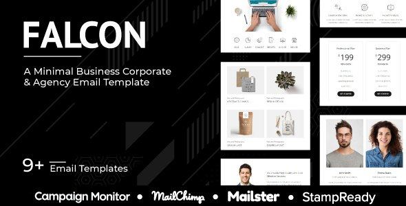 Falcon Agency - Multipurpose Responsive Agency Email Template - StampReady + Mailster + Mailchimp            TFx Kegan Marmaduke