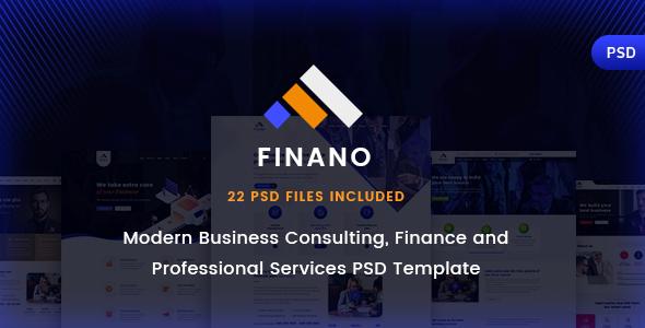Finano - Business & Consulting PSD Template            TFx Sri Deacon