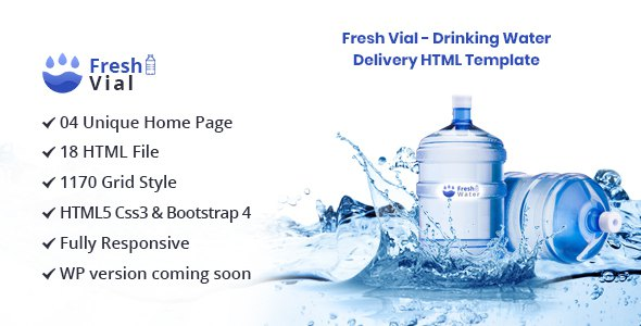 Fresh Vial - Drinking Mineral Water Delivery HTML Template            TFx Hasdrubal Delroy