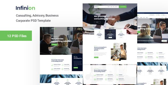 Infinion -  PSD Template For Consulting Business            TFx Bryant Drake