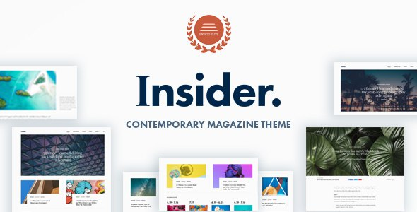 Insider - Contemporary Magazine and Blogging Theme            TFx Billie Rollo