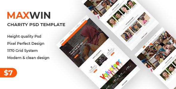 Maxwin - NonProfit Charity PSD Template      TFx Isidore Cuthbert