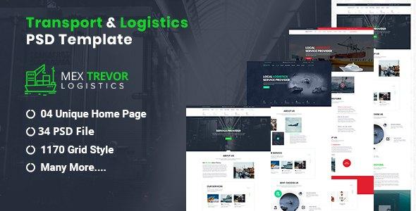 Mex Trevor - Logistic & Transport PSD Template      TFx Hayato Morton