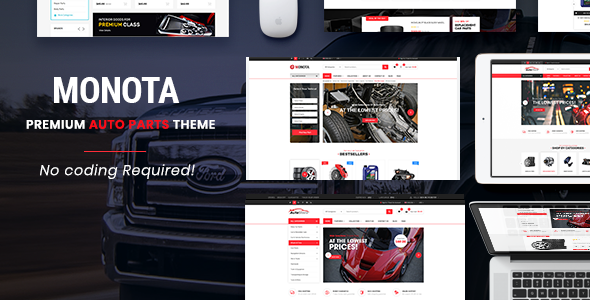 Monota - Auto Parts, Tools, Equipments and Accessories Store Opencart Theme            TFx Kenny Zoroaster