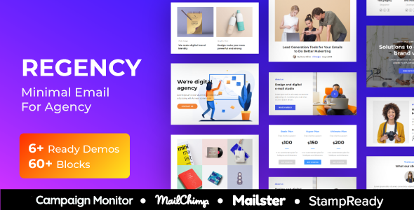 Regency - Agency Multiprupose Responsive Email Template + Stampready Builder + Mailster & Mailchimp            TFx Ryan Rokuro