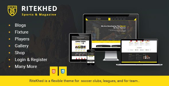 RiteKhed Fixtures and Sports Html Template            TFx Samson Micky
