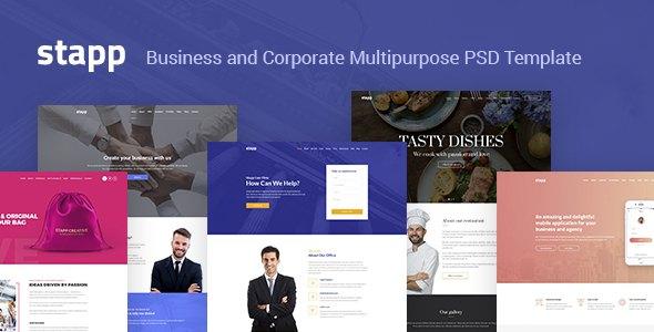 Stapp – Business Multipurpose PSD Template            TFx Maximillian Walter
