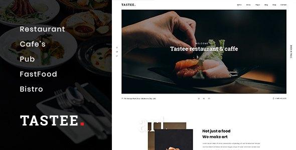 Tastee | Restaurant PSD Template            TFx Brian Braeden
