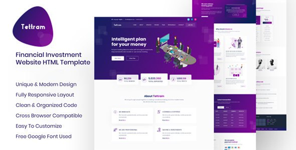 Tettram - Investment Website HTML Template            TFx Les Emerson