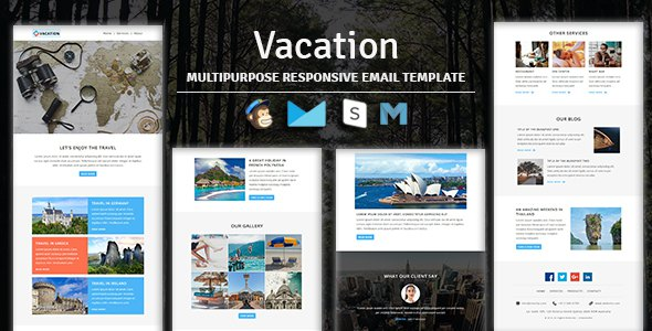 Vacation - Multipurpose Responsive Email Template With Stampready Builder & Mailchimp Access            TFx Syd Iggy