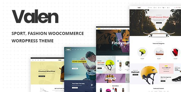 Valen - Sport, Fashion WooCommerce WordPress Theme      TFx Esmond Taegan