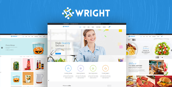 Wright - MultiPurpose Bootstrap4 Template            TFx Palmer Alton