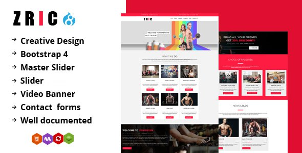 Zric - Fitness Multipages Drupal 8 Theme            TFx Ace Harta