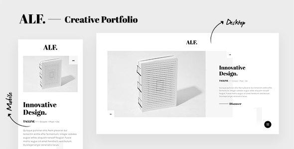 ALF. - Creative Design Portfolio Template        TFx Octavian Samuel