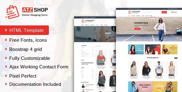 ATZ Shop - Online Shopping Store HTML Template        TFx Beau Lamont