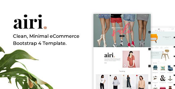 Airi - Clean, Minimal eCommerce Bootstrap 4 Template        TFx Clive Rafe