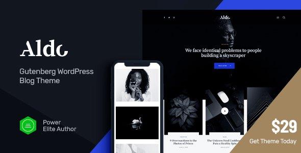 Aldo | Gutenberg Blog WordPress Theme        TFx Jarrett Thomas