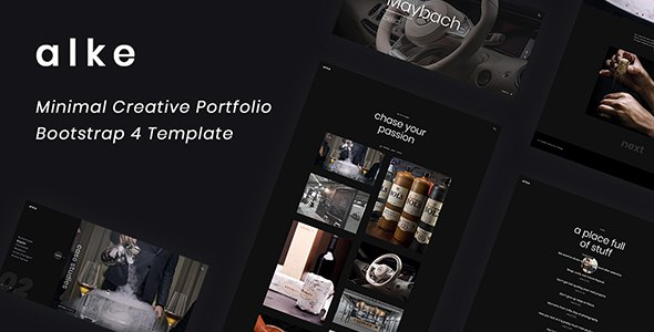 Alke - Minimal Creative Portfolio Template        TFx Takumi Hall