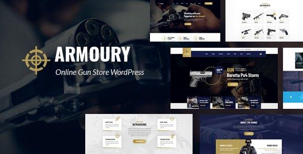 Armoury - Weapon Store WordPress Theme        TFx Jolyon Ora