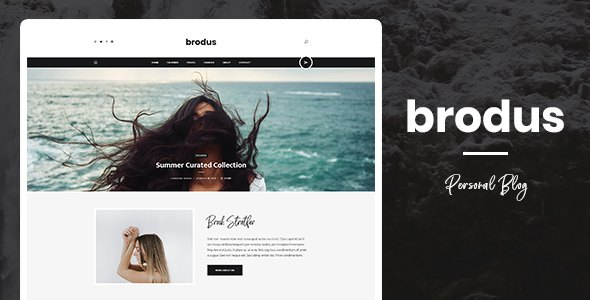 Brodus - Personal Blog PSD Template        TFx Vere Casey