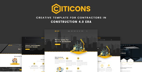 Citicons - Construction & Building PSD Template        TFx Warren Vere