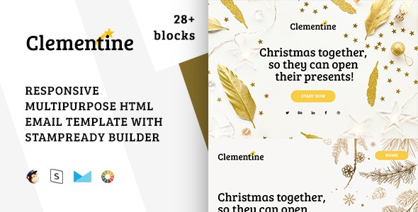 Clementine – Responsive Christmas Email Template + Stampready Builder        TFx Vinal Adolph