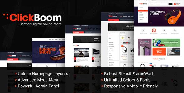ClickBoom - Responsive Multipurpose StenCil BigCommerce Theme with Advanced Theme Option        TFx Eko Wilf