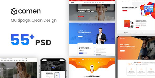 Comen | Multi-purpose Business PSD Template        TFx Randal Ora