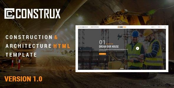 Construx - Construction & Architecture Html Template        TFx Cameron Zeph