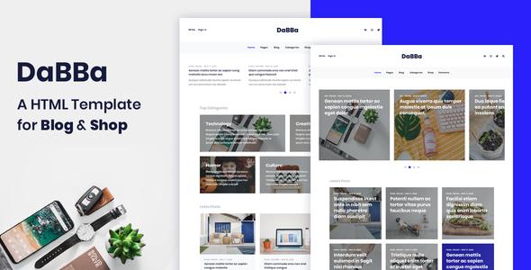 Dabba - A HTML Template For Blog & Shop        TFx Rylan Davis