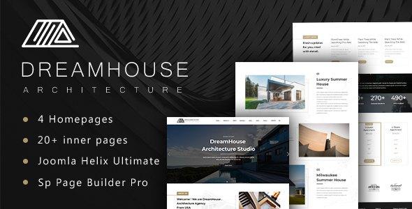 Dreamhouse - Architecture & Interior Design Helix Ultimate Joomla Template        TFx Loenceo Kiaran