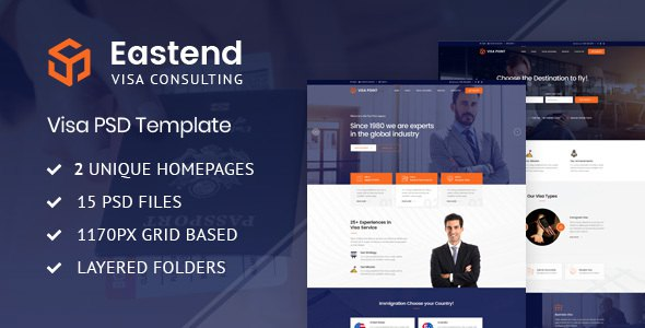 Eastend - Visa Immigration Consulting PSD Template        TFx Caligula Takashi