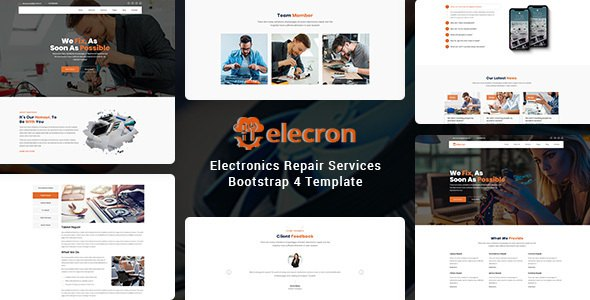 Elecron - Electronics Repair Services Bootstrap 4 Template        TFx Elwyn Milford