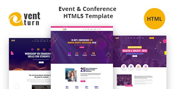 Eventturn - Event and Conference HTML5 Template        TFx Kelvin Alva