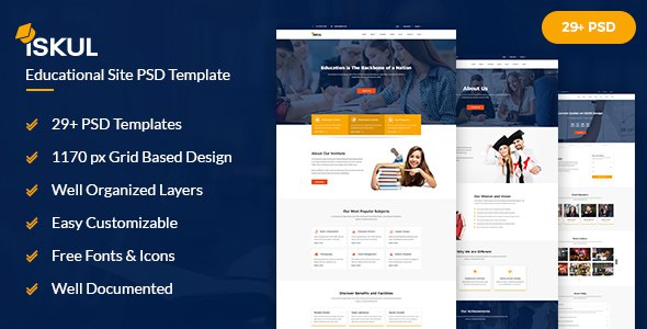 ISKUL - Educational Site PSD Template        TFx August Andy