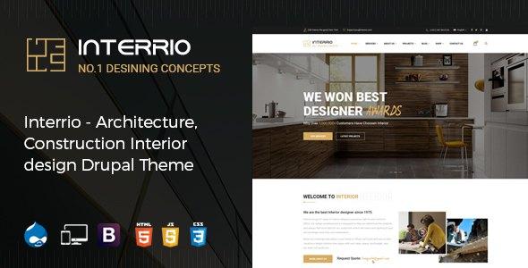 Interrio - Architecture, Construction, and Interior Design Drupal Theme        TFx Ritchie Frazier