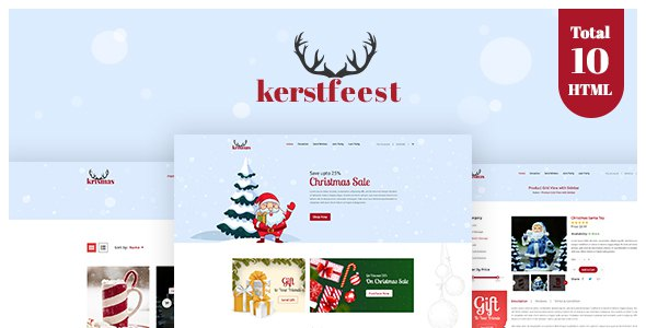 Kerstfeest - Christmas Party & e-commerce HTML Template        TFx Crofton Isaiah