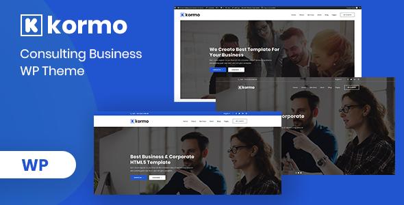 Kormo – Consulting Business WordPress Theme        TFx Schuyler Putu