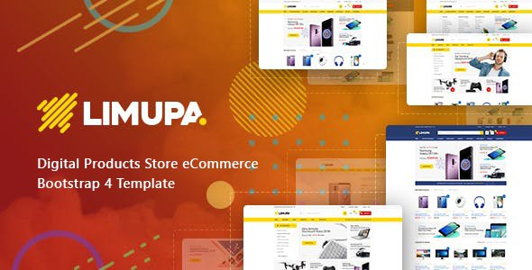 Limupa - Digital Products Store eCommerce Bootstrap 4 Template        TFx Cletus Samson
