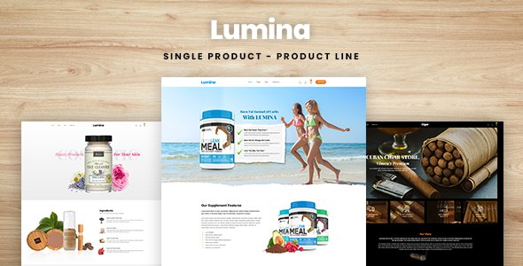 Lumina - Single Product, Product Line Shopify Theme        TFx Daichi Akira